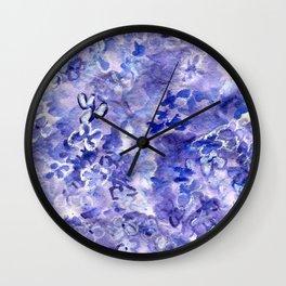 Lush Lilacs Wall Clock