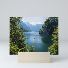 Germany, Malerblick, Koenigssee Lake III- Mountain Forest Europe Mini Art Print
