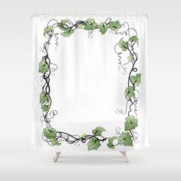 Floral frame Shower Curtain