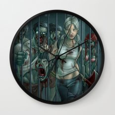 Zombie Slayer Wall Clock