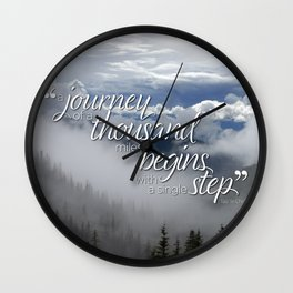 A journey of a thousand miles begins with a single step Wall Clock
