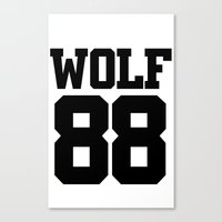 exo Canvas Prints featuring EXO WOLF 88 by Cathy Tan