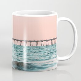 Beach Pier Sunrise Coffee Mug