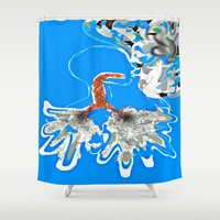 lungs Shower Curtains featuring Smoking Lungs by The Expression Studio