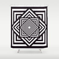 running Shower Curtains featuring Running Out by Cs025