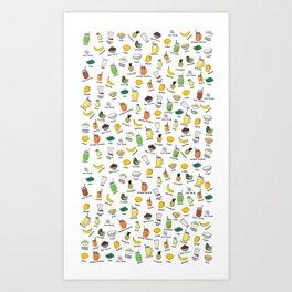 Smoothie pattern Art Print