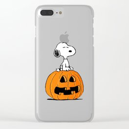 Helloween snoopy Clear iPhone Case