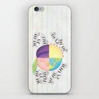 peach iPhone & iPod Skins featuring Peach by Larissa