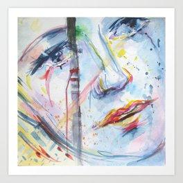Visage Art Print