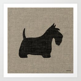 Scottish Terrier Scottie Silhouette Art Print