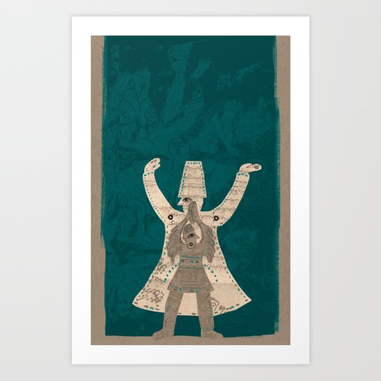 There is another me, deep inside of me Art Print