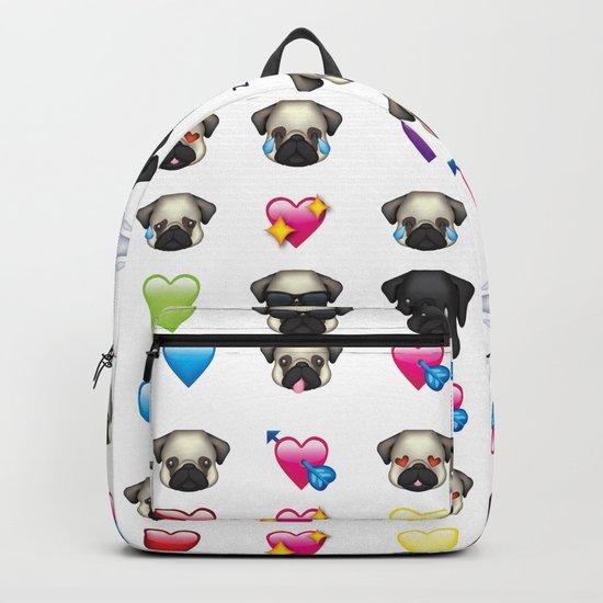 Emoji Pug Backpack