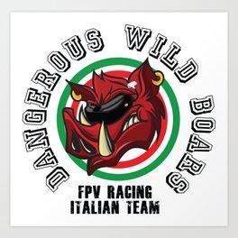 DWB FPV Racing Italian Team Art Print