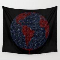 "guns Wall Tapestries featuring ""Guns R' Us"" by Vic Yambao Art"