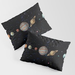 Planetary Solar System Pillow Sham