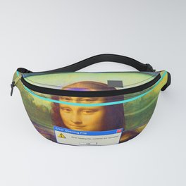 Mona Lisa _corrupt Fanny Pack