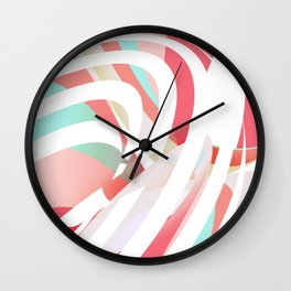 stripes and colors Wall Clock