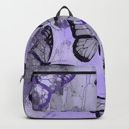 Abstract Butterfly Art Ultraviolett Colors Backpack