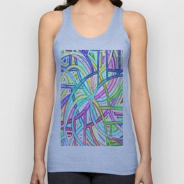 Candy Colored Clown Coils Unisex Tank Top
