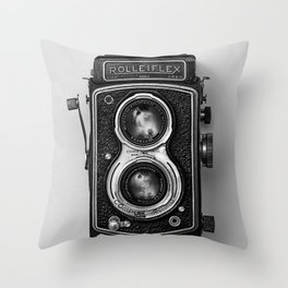 Rolliflex Camera Throw Pillow