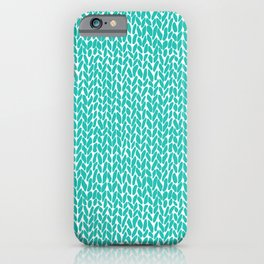 Hand Knit Aqua iPhone Case