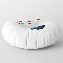Bowling Ball and Pins Floor Pillow