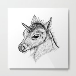 Little Unicorn Metal Print