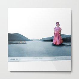 Life in a postcard, Collage Art Metal Print