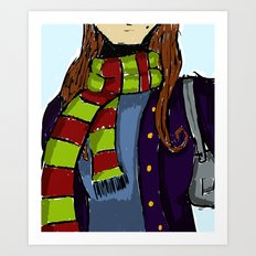 The Scarf Art Print