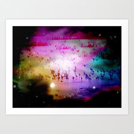 Migrating Art Print