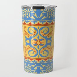 Traditional pattern of Eastern Central Asia Travel Mug