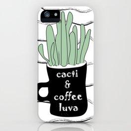 Cacti & Coffee LUVA - Digital Vector Illustration Home Goods Design iPhone Case