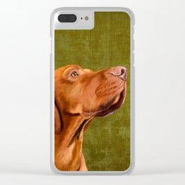 Magyar Vizsla portrait Clear iPhone Case