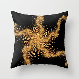 Dancing Sea Star Throw Pillow