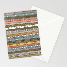 natural color doodle stripes Stationery Cards