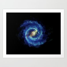 The Milky Way Galaxy - Painting Style Art Print