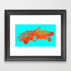 Orange Lowrider Framed Art Print