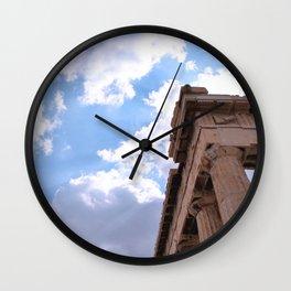 Sky above Parthenon Wall Clock