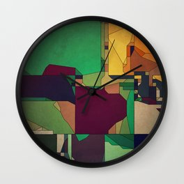 Patchwork of Color Wall Clock
