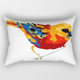 Madagascar Fody - White Rectangular Pillow