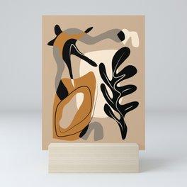 Seaweed abstract cut out Mini Art Print