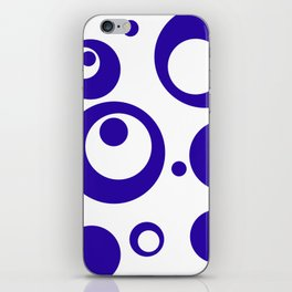 Circles Dots Bubbles :: Blueberry Inverse iPhone Skin