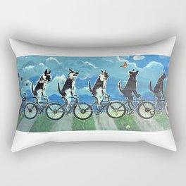 Five Doggos and a Cat Rectangular Pillow