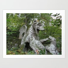 Bomarzo Dragon Art Print