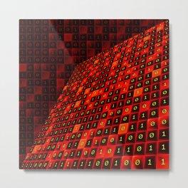 Bits pattern Metal Print