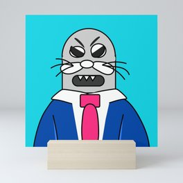 Binky the Angry Sea Lion - 0fd4e5 Mini Art Print