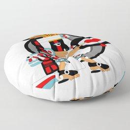 Tezcatlipoca of the Smoking Mirror Floor Pillow