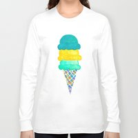 ice cream Long Sleeve T-shirts featuring Ice Cream by Lindsay Milgrim