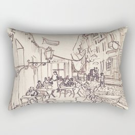 Cafe Terrace at Night (sketch) Rectangular Pillow