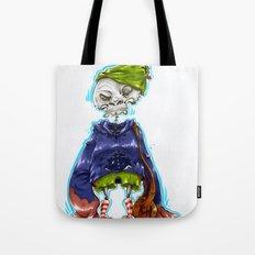Skinny Skeleton Kid Tote Bag